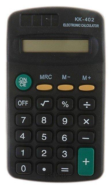 Калькулятор карманный, 8-разрядный, KK-402, работает от батарейки КНР