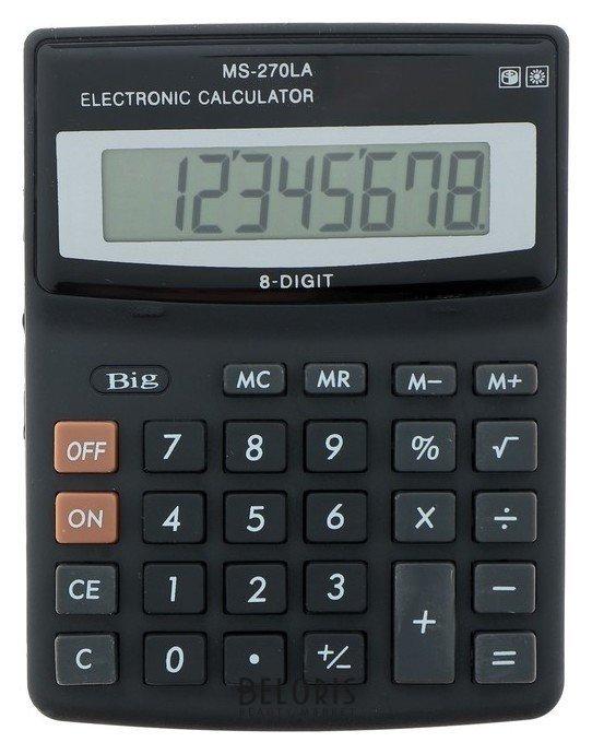 Калькулятор настольный, 8-разрядный, MS-270LA, двойное питание КНР