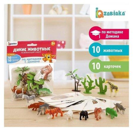 Развивающий набор с карточками Дикие животные, по методике Домана  Iq-zabiaka