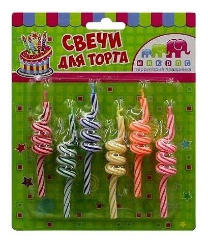 Свечи для торта Спираль  Микрос