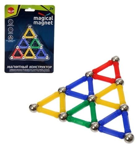 Конструктор магнитный Треугольник 28 деталей  Unicon