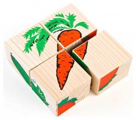 Кубики Овощи 4 элемента  Томик