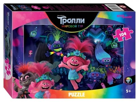Пазл 104 элемента Тrolls - 2  Step puzzle