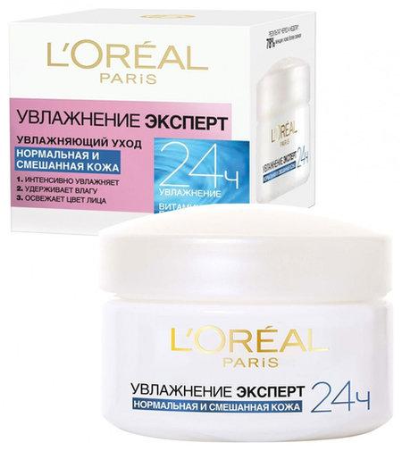 """Крем для лица """"Трио Актив. Увлажнение эксперт"""" (дневной), для нормальной и смешанной кожи  L'Oreal"""