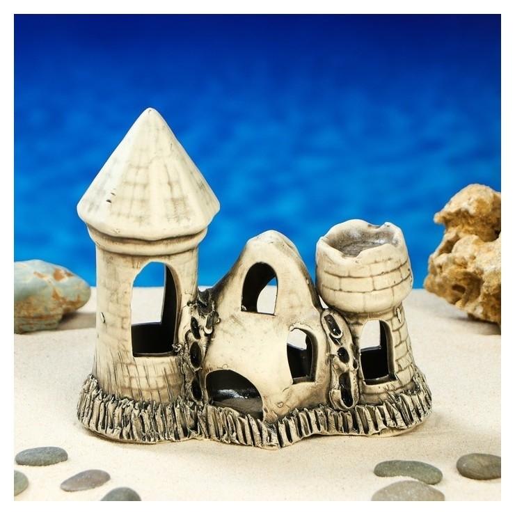 """Декорация для аквариума """"Башенки камнями'', 15 см, микс  Керамика ручной работы"""