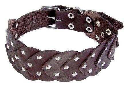 Ошейник кожаный чешуйчатый 60 х 3,5 см, микс цветов  Compаnion