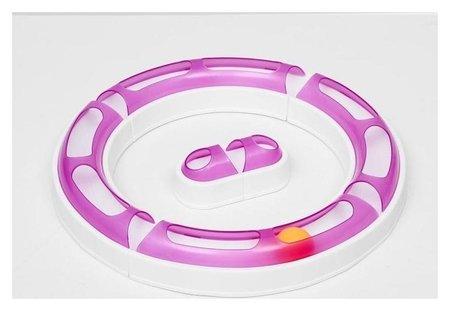 """Игрушка для кошек 2 в 1 """"Круг и волна"""" с шариком, микс цветов  Compаnion"""