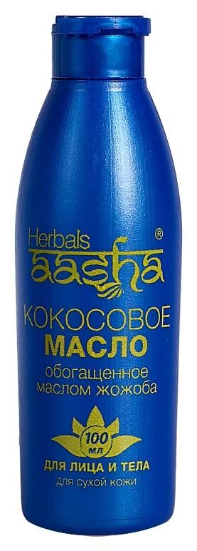Масло кокосовое для лица и тела с маслом жожоба Aasha Herbals