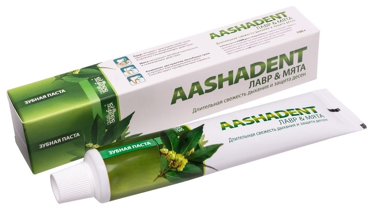 Зубная паста Лавр и Мята  Aasha Herbals