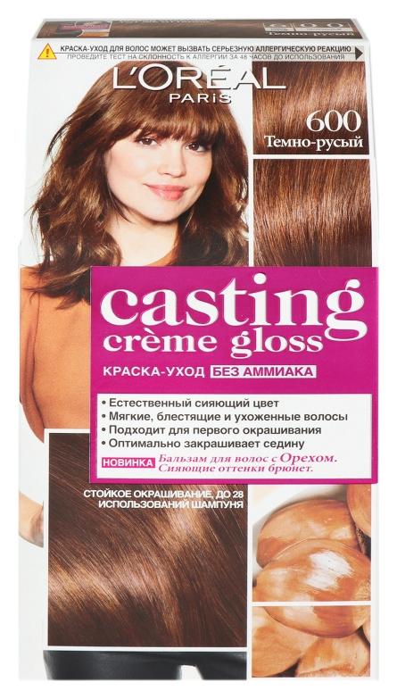 Краска для волос Casting Creme Gloss Тон 600 Темно-русый