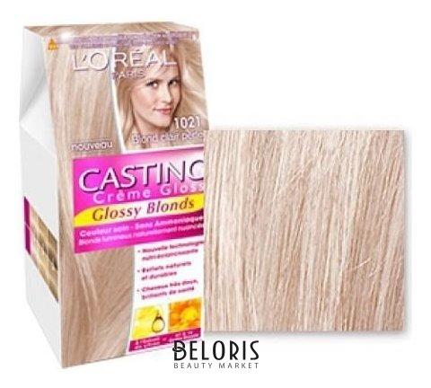 Купить Краска для волос L'Oreal, Краска для волос Casting Creme Gloss , Франция, Тон 1021 (светло-светло русый перламутровый)
