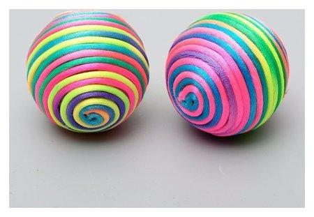 """Мяч текстильный """"Полосатик"""", 4,8 см микс цветов  Пижон"""