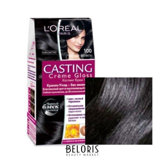 Купить Краска для волос L'Oreal, Краска для волос Casting Creme Gloss , Франция, Тон 100 (черная ваниль)