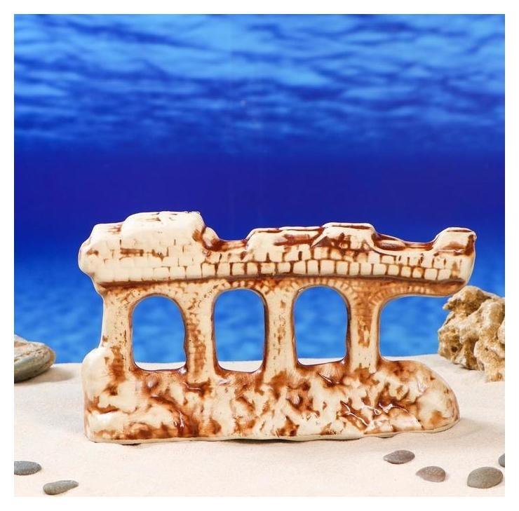 """Декорация для аквариума """"Грот"""" , 5 х 25 х 15 см  Керамика ручной работы"""