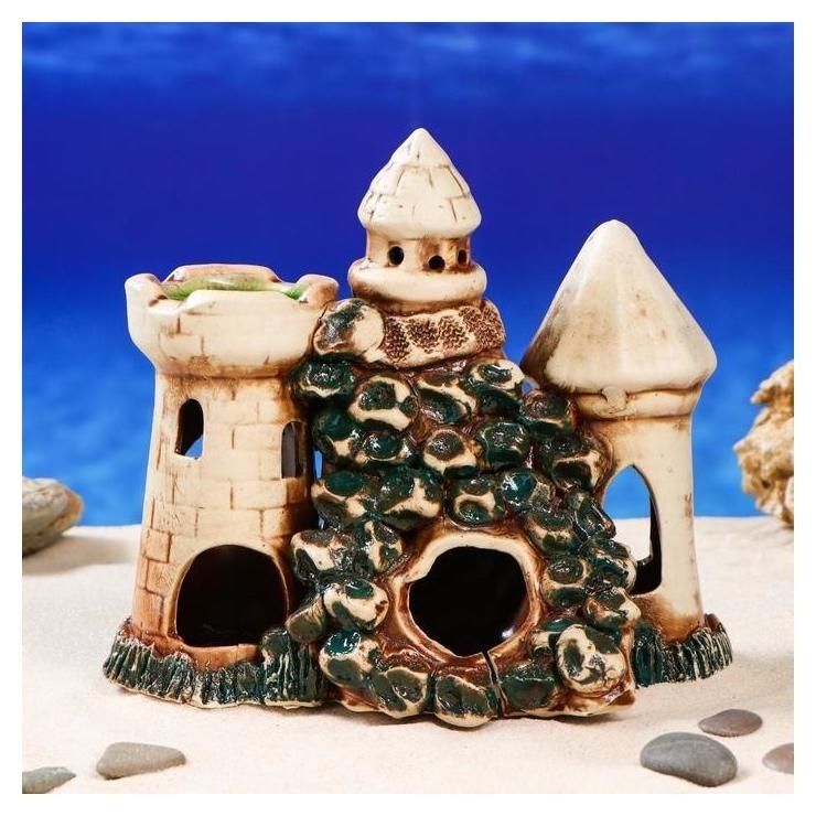 """Декорация для аквариума """"Замок с гротом"""" , 13 х 20 х 21 см, микс  Керамика ручной работы"""