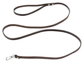 Поводок кожаный тисненый однослойный, 1.4 м х 0,8 см, коричневый  Compаnion