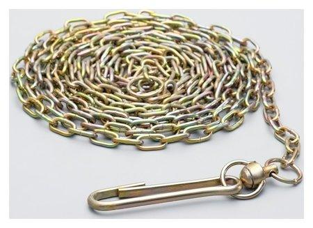 Цепь для привязи собак, 5м, калибр 3*16 мм, желтая  Compаnion