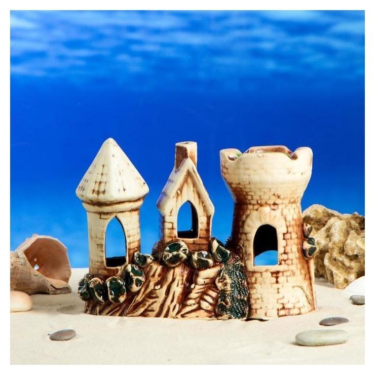"""Декорации для аквариума """"Крепость"""" малая  Керамика ручной работы"""