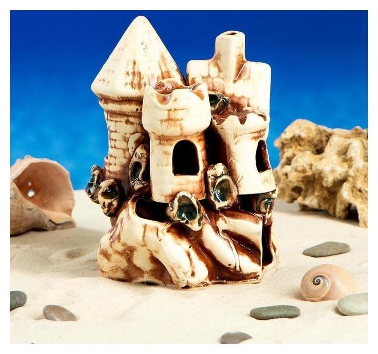 """Декорации для аквариума """"Домик с башнями"""" микс  Керамика ручной работы"""