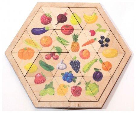 Пазл деревянный Овощи, фрукты, ягоды  Десятое королевство