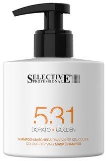 Шампунь-маска для возобновления цвета волос золотистый Selective Professional