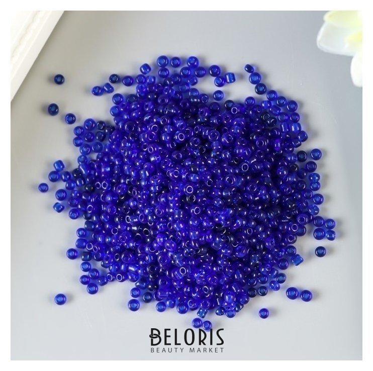 Бисер круглый Сине-фиолетовый, размер 12/0, 20 г Арт узор