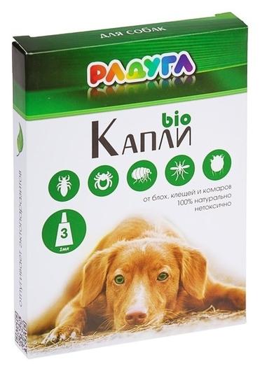 """Капли """"Радуга БИО"""" для собак от блох, клещей, комаров, 3 х 1 мл  Радуга"""