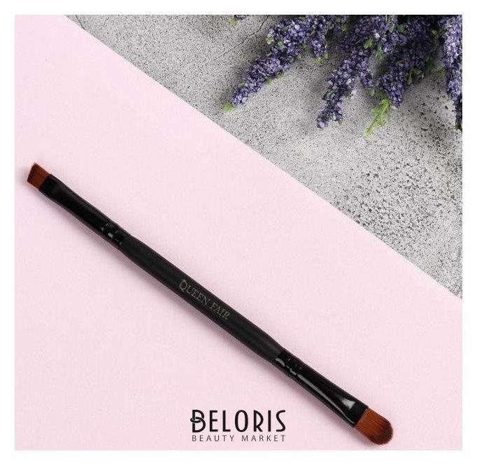Кисть для макияжа, двусторонняя, 15,5 см, цвет чёрный Queen fair