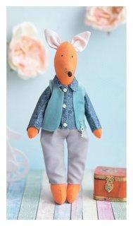 Мягкая игрушка «Домашний лис Луис», набор для шитья, 18 × 22 × 36 см