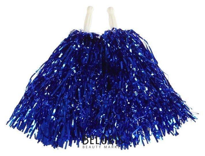 Карнавальные помпоны, набор 2 шт., цвет синий Страна Карнавалия