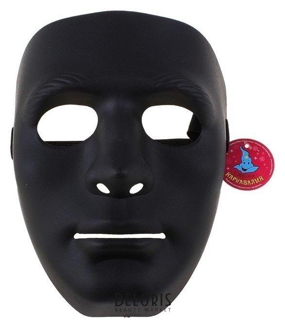 Карнавальная маска «Лицо», 19х16 см, цвет чёрный Страна Карнавалия
