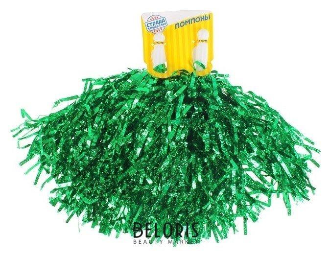 Гофрированные помпоны, набор 2 шт., цвет зелёный Страна Карнавалия
