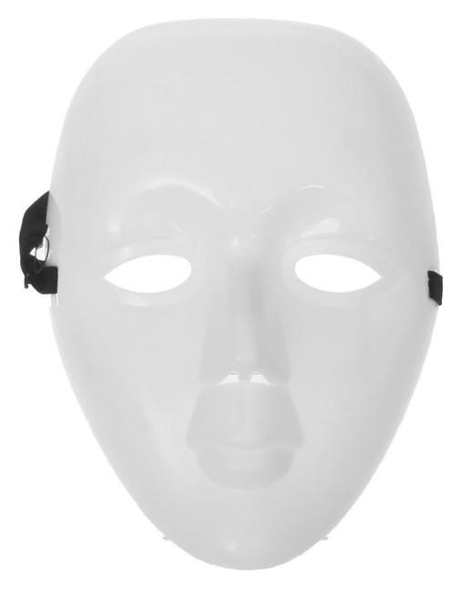 Карнавальная маска пластик «Лицо», цвет белый  Страна Карнавалия