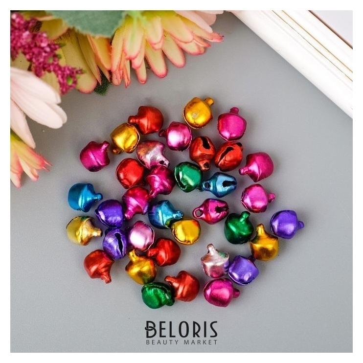 Набор декора для творчества Бубенчики цветные d=0,8 см, 35 шт. Арт узор