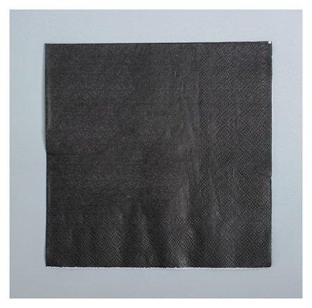 Салфетки, набор 20 шт., цвет чёрный  Страна Карнавалия