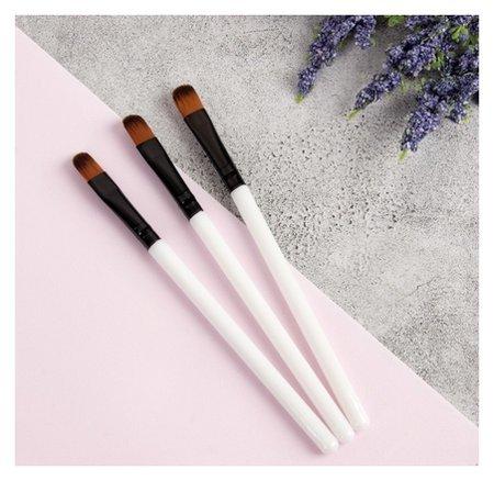 Набор кистей для макияжа, 9,7 см, 3 предмета, цвет белый  Queen Fair
