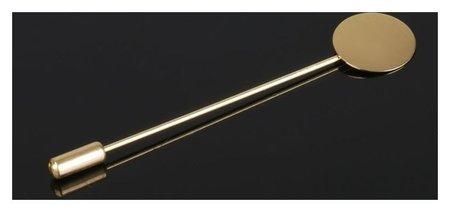 """Основа """"Брошь-игла"""" L= 7,5 см, площадка 1,5см (набор 5шт), цвет золото  Queen Fair"""