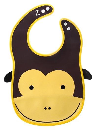 Нагрудник «Обезьянка» из клеёнки, с отворачивающимся карманом, на регулируемых кнопках  Крошка Я