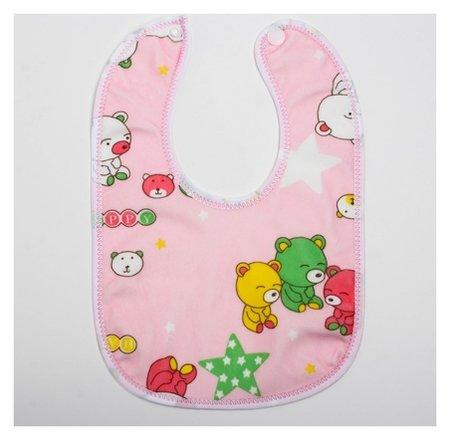 Нагрудник детский непромокаемый «Для малышек», на кнопках Крошка Я
