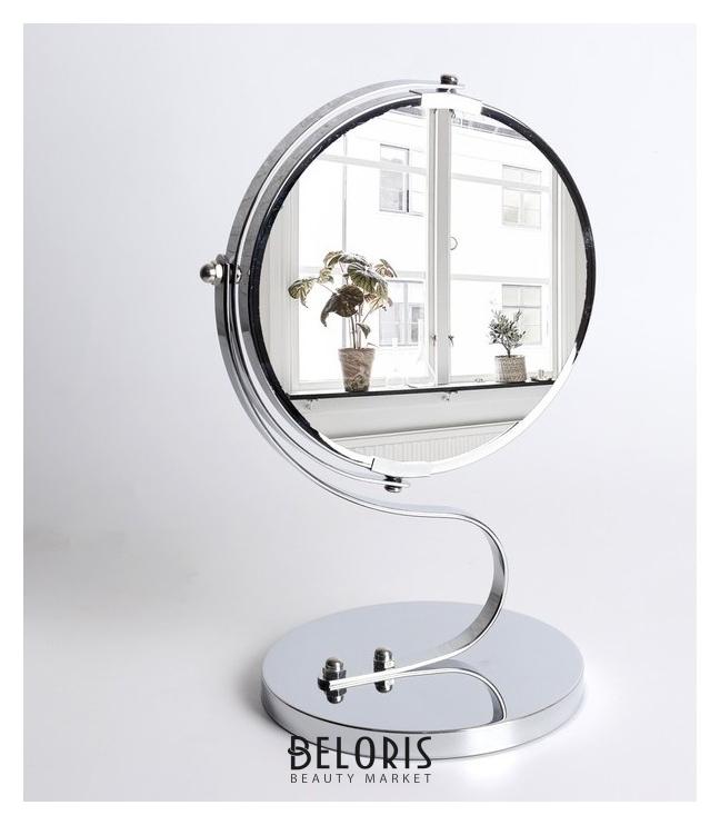 Зеркало двустороннее с увеличением фигурная ручка Queen fair