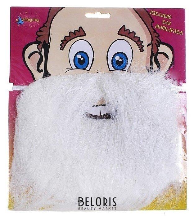 Карнавальная борода, на блистере, цвет белый Страна Карнавалия