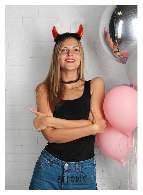 Карнавальный набор чертика Дьявол по плоти чокер, рожки Страна Карнавалия