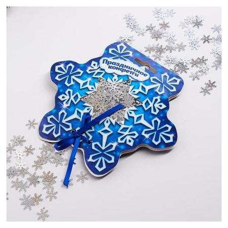 Конфетти «Снежинка» снежинки и кругляши цветные  Страна Карнавалия