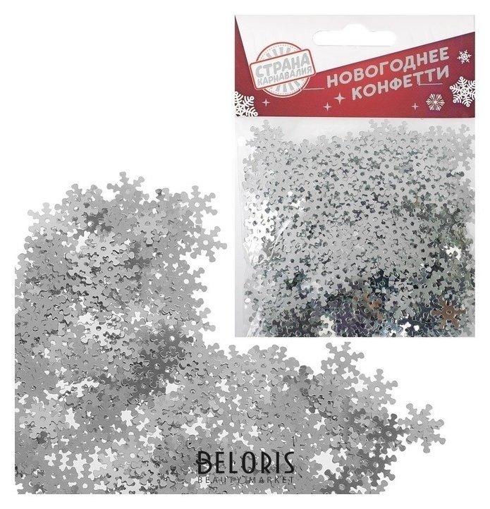 Конфетти «Праздничное конфетти» снежинки 14 гр Страна Карнавалия