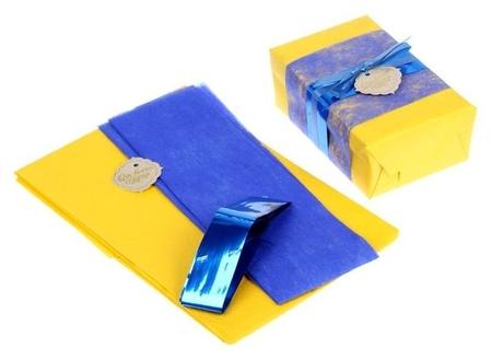 """Набор для упаковки подарка """"Контраст"""" (бумага упаковочная+декор)  Арт узор"""