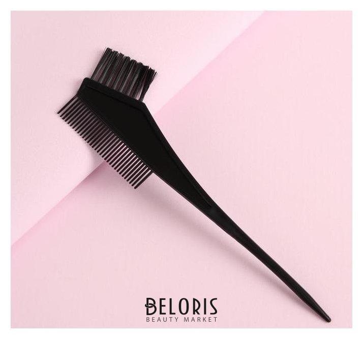 Расчёска для окрашивания с черными щетинками, цвет чёрный Queen fair