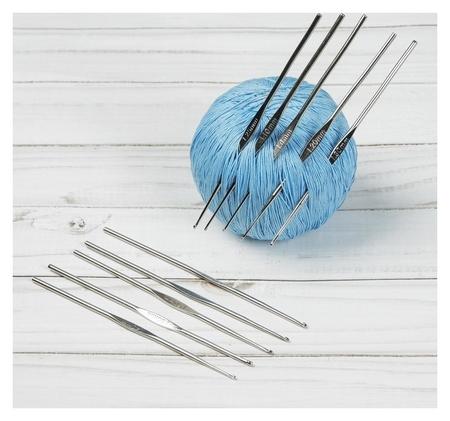Набор крючков для вязания, d = 1-1,9 мм, 13,5 см, 10 шт  Арт узор