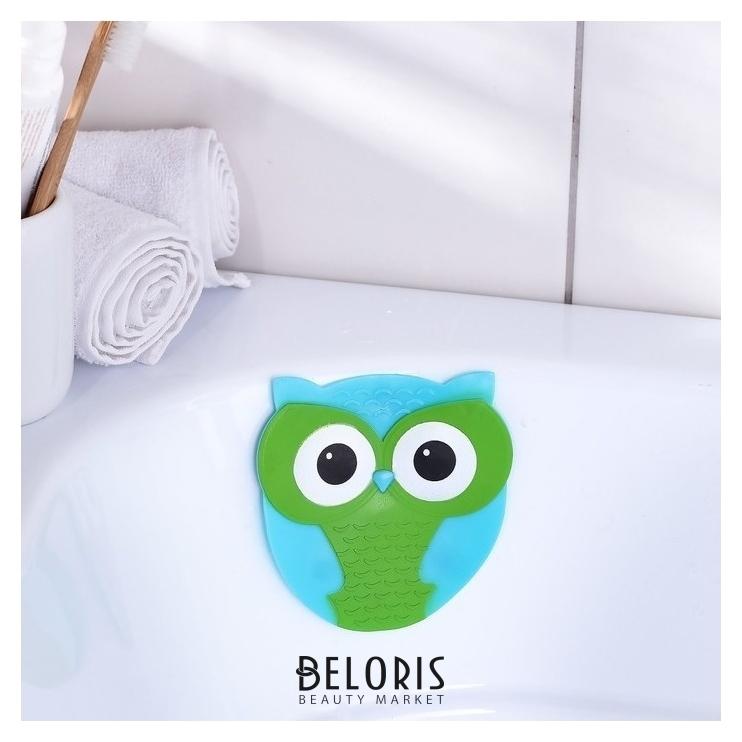 Мини-коврик для ванны «Совушка», 11×11,5 см Доляна