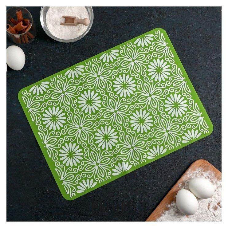 Коврик «Инди», 37×27 см, цвет зелёный Доляна