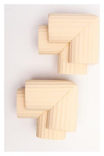 Набор накладок на углы, 4 шт., цвет молочный  Крошка Я